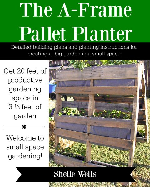 More than just a vertical gardening idea, the A-Frame Pallet Planter is a quick way to start a garden for very little money. In fact, for as little as $50 and 4 hours of your time, you can have your pallet planter ready for growing. We make growing more food easy!