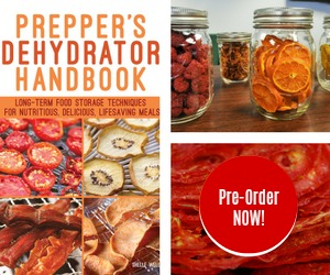 Prepper's Dehydrator Handbook available April 10, 2018. Pre-order your copy now!