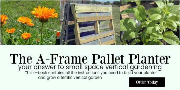 The A-Frame Pallet Planter. Vertical gardening from reclaimed materials