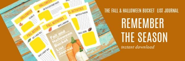 the Fall and Halloween Bucket List Journal