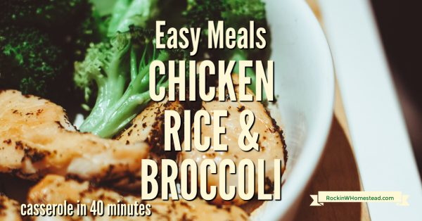 [recipe] Chicken Rice 7 broccoli Casserole in 40 minutes