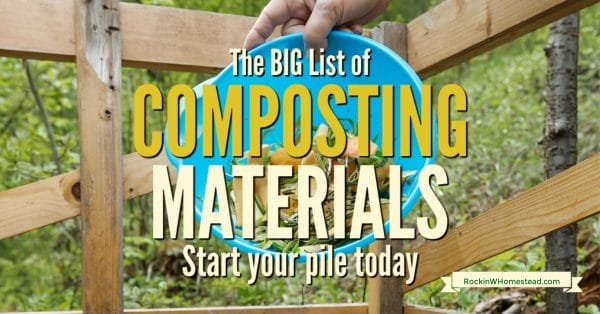 Once you have decided that you want to give composting a try, there are several composting materials that you can use. Most of these raw items are available in your own yard or kitchen and require only a small amount of pre-planning before they can be used.