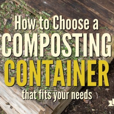 How to choose a composting container that fits your needs.There are many sizes, shapes, and styles of composting bins to choose from. You can make one yourself or opt for not using one at all and create a compost pile or heap.