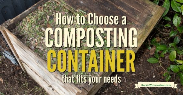 How to choose a composting container that fits your needs. There are many sizes, shapes, and styles of composting bins to choose from.  You can make one yourself or opt for not using one at all and create a compost pile or heap.