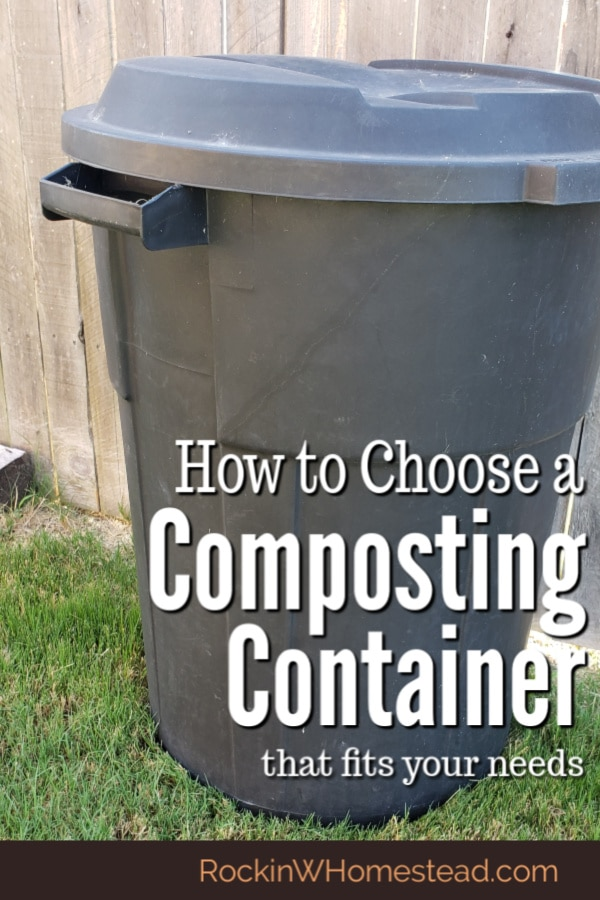 There are many types of composting containers available