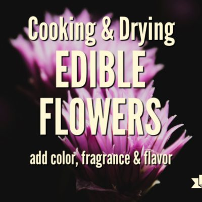 Cooking and Drying Edible Flowers