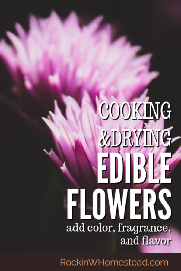 Cooking and drying edible herbs. The bounty that the Earth provides is amazing. Every year we learn more about the healing properties of the flowers and herbs that are all around us.
