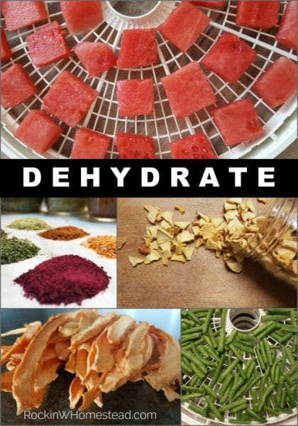Learn to dehydrate. If you can chop food, blanch vegetables, and know what a specific food should look like when it is dry, you've got this covered. That makes dehydrated food easy to get into your pantry