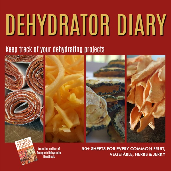 The Dehydrator Diary - keep track of the drying process for 50+ fruits, vegetables, herbs and jerky.