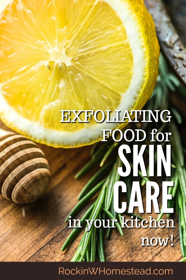 Your pantry has many exfoliating foods for skin care. Make your own scrubs with these ingredients - save money, and reduce your impact on the environment.
