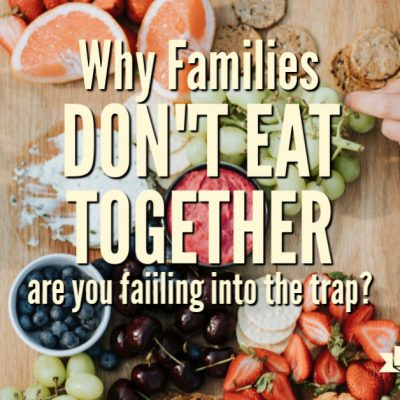 Why Families Don't Eat Together Anymore