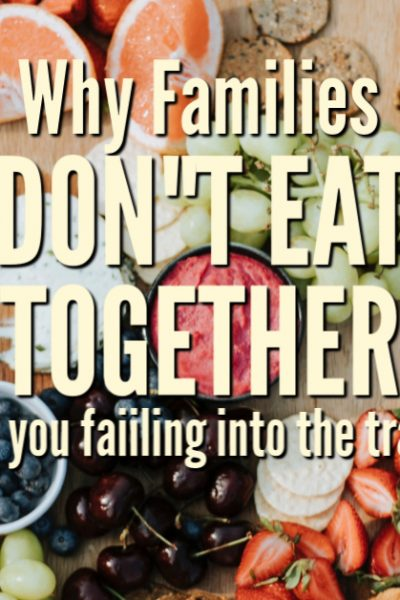 There is a trend happening that is not good for the family. Are you falling into the trap? Why families don't eat together anymore.