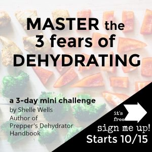 Master the three fears of dehydrating with this free mini-course