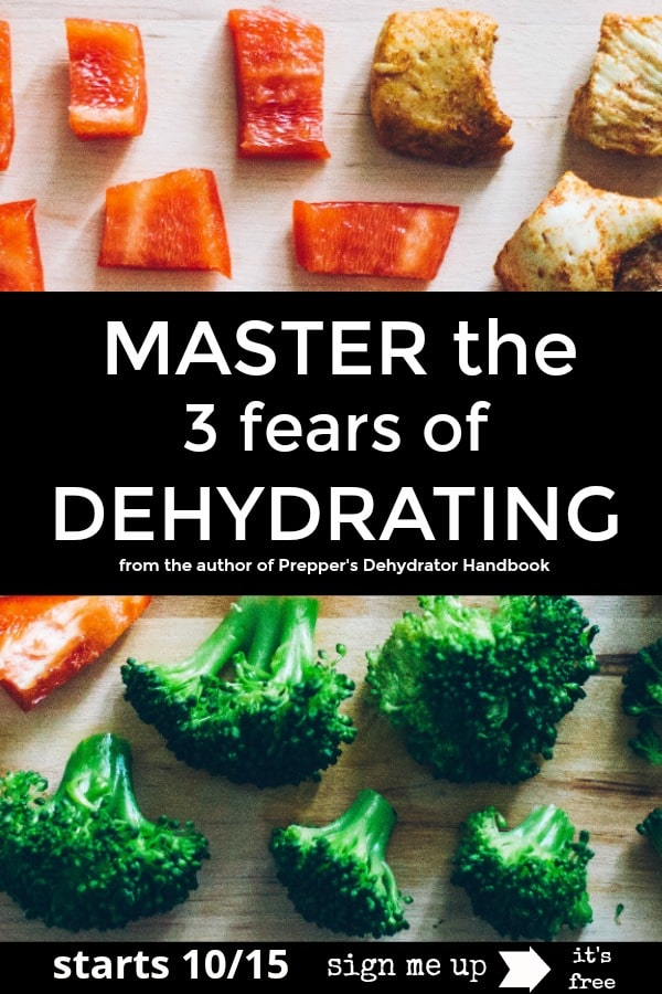 Master the three fears of dehydrating