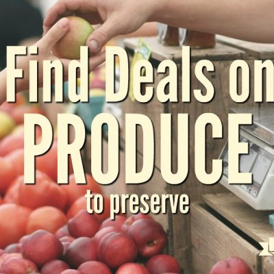 Did you have a less than stellar gardening season this year? Your plans may be thwarted, but you can still find great deals on produce to preserve.