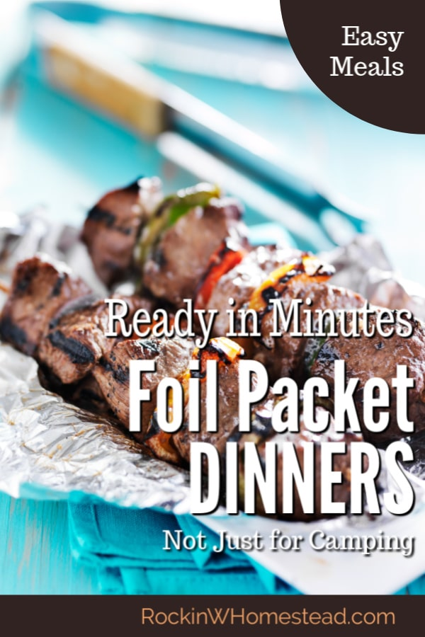 Foil packet dinners are not just for camping, they are easy to put together and great for the last-minute barbecue. Add this idea to your collection of recipes for quick dinner ideas.