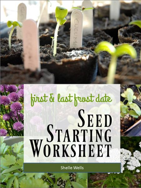Every successful garden needs a system. The First and Last Frost Date Worksheets help you track when to plant and minimize your garden to frost damage.