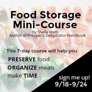 Are you dismayed when you look into your pantry? Maybe you wish it was full of healthier food, or that you could cook a quick meal with the items you have on hand.  Then the Food Storage mini-course is for you!