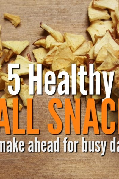 Your days are busy with work, sports, and school activities. Try 5 healthy fall snacks recipes to use the bounty of the season. Terrific to make ahead when time gets short.