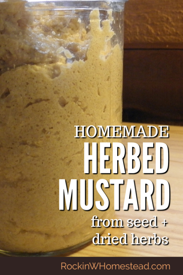 Homemade herb mustard is a terrific way to spice up your food storage and add variety to otherwise bland pantry basics. The flavor possibilities are endless.