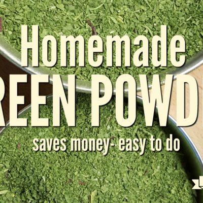 Homemade Green Powder