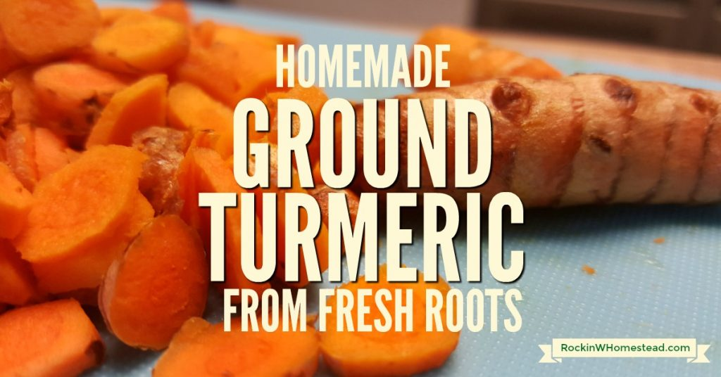 Use fresh, organic turmeric rhizomes to make homemade ground turmeric powder. Organic is absolutely essential if you are planning on using turmeric for its health-promoting herbal properties   Rockin W Homestead