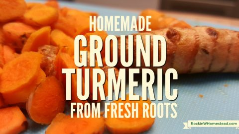 Homemade Ground Turmeric from Fresh Roots
