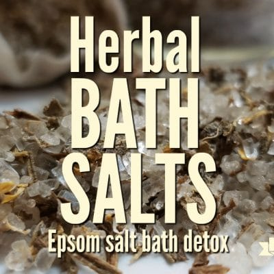 Homemade Herbal Bath Salts