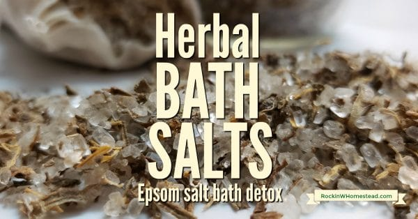 You may be more of a shower person than a bath person. Homemade herbal bath salts might just be the reason you change your mind. Epsom salt bath detox.
