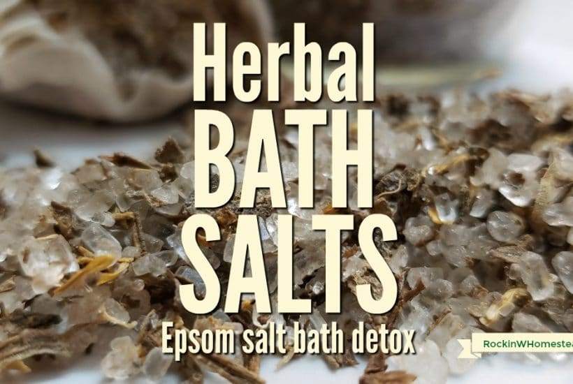 You may be more of a shower person than a bath person. Homemade herbal bath salts might just be the reason you change your mind.Epsom salt bath detox.