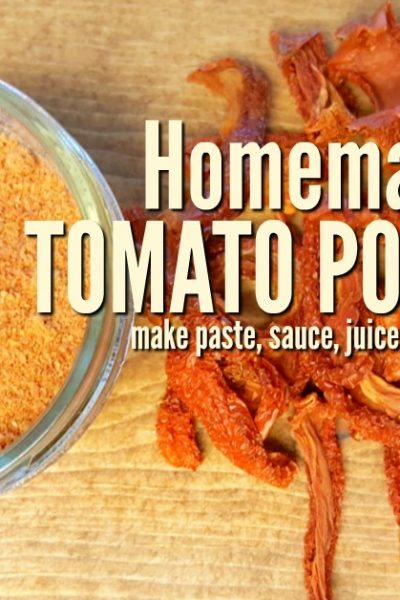 Dehydrating and turning tomatoes into homemade tomato powder is another alternative to canning. It takes up less shelf space and retains freshness   Rockin W Homestead