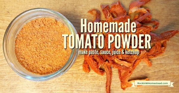 Dehydrating and turning tomatoes into homemade tomato powder is another alternative to canning. It takes up less shelf space and retains freshness | Rockin W Homestead