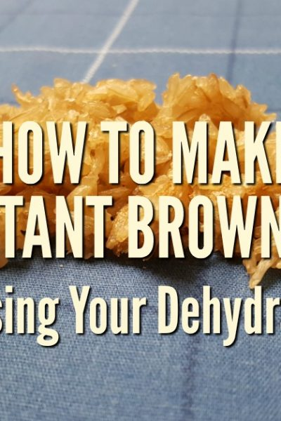 You can learn to make your own instant brown rice at home. This recipe uses a dehydrator to dry cooked rice and speed up the cooking time when you are ready to serve it for meals   Rockin W Homestead