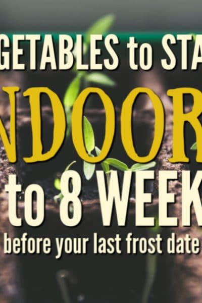 Get ready for the gardening season and use this guide to know what to plant indoors 6 to 8 weeks before last frost date.Take the guesswork out of your planting schedule!