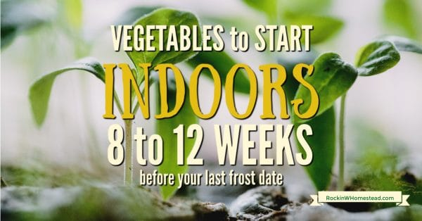 Vegetables to start indoors 8 to 12 weeks vefore last frost date. Avid gardeners can't wait to get their gardens started each spring. Because weather is still inconsistent in early spring, how do you what to plant before your last frost date and in what order?