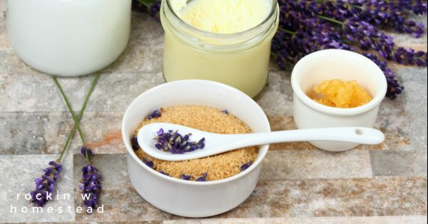 Lavender scar-reducing scrub