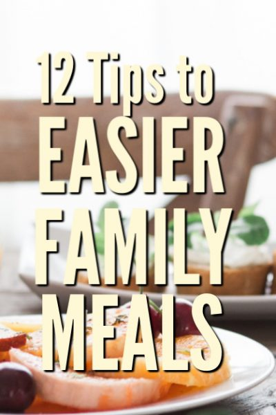 By putting a few plans in place, and implementing a new way of thinking, you'll discover that you can make family meals easier and enjoyable.