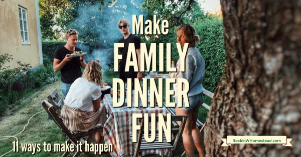 If you really want everyone to enjoy dinnertime it's important to make family meals fun and not something to dread.Use these ideas to get them to the table