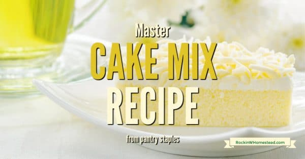 This master cake mix recipe helps you replace prepackaged cake mix with natural ingredients and cut out the preservatives.