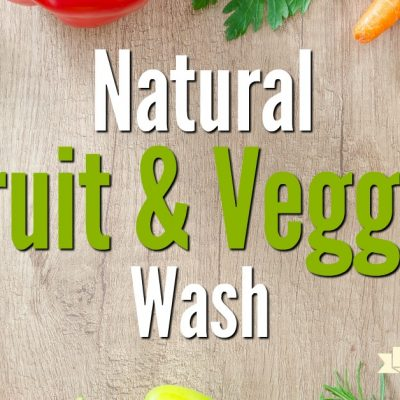 Natural Fruit and Vegetable Wash