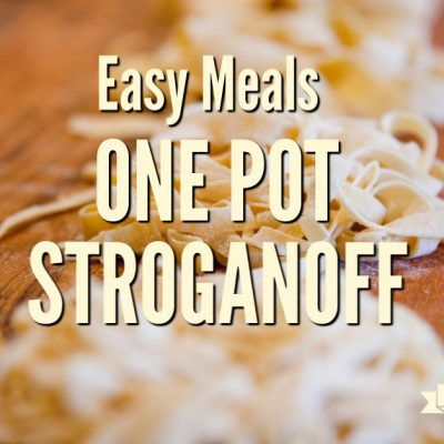 Easy Meals: One Pot Stroganoff