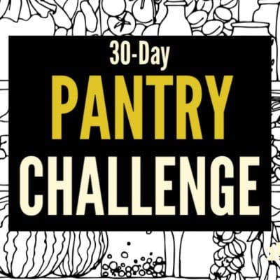 Does your pantry need an update? We've got you covered! Join the 30 day pantry challenge and create a pantry that's just right for your family.