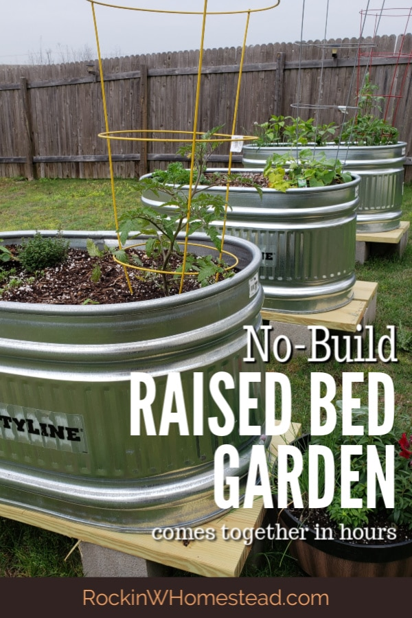 Looking for a way to get a garden started quickly, with minimum effort? My no build raised bed garden came together in a few hours. Yours can too.