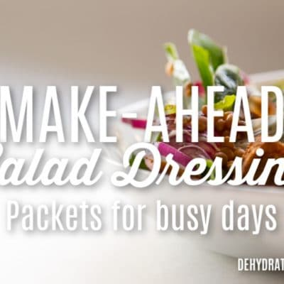 DIY Salad Dressing Packets