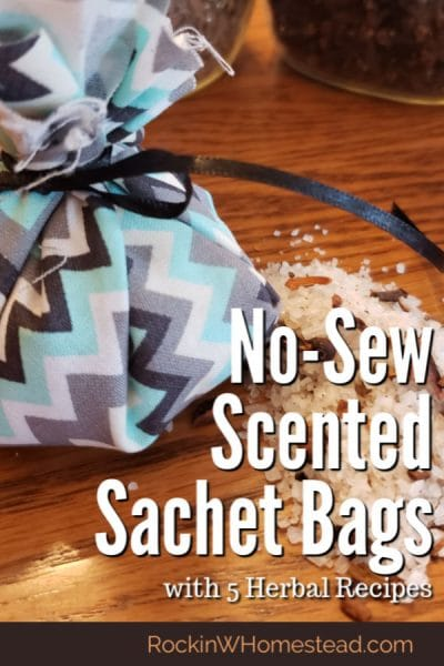 Scented sachet bags are often hung in a closet, or kept in drawers to freshen enclosed areas. They can even be placed in decorative glass jars with lids and opened to release the fragrance into a room. They make terrific gifts!