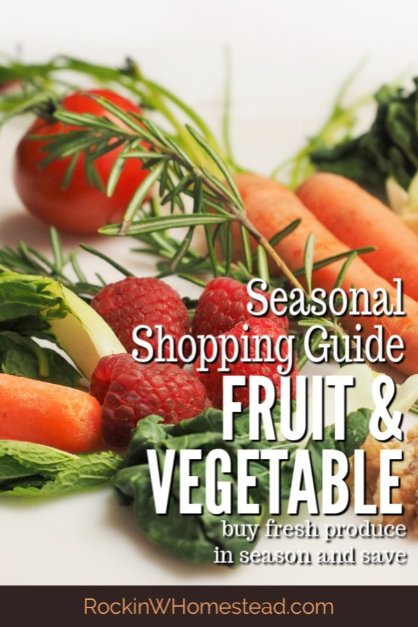 The seasonal fruit and vegetable shopping guide will show you when fresh food is really in season. Buy in the right season, stock up and save.
