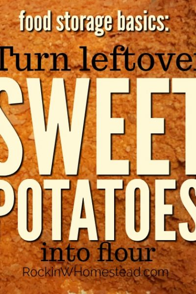 One of the easiest ways to preserve your extra sweet potatoes may be to mash them, dehydrate, and turn those sweet potatoes into flour. | Rockin W Homestead