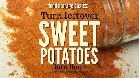 Turn Leftover Sweet Potatoes into Flour