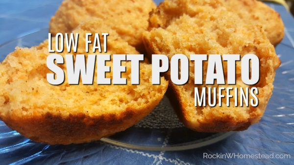 Home baked sweet potato muffins are a healthy snack. If you're looking for a tasty, low-fat alternative to store bought muffins, this is it   Rockin W Homestead