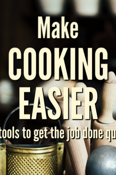 Tools That Make Cooking Easier. You don't need fancy gadgets to accomplish great meals, but this list of time-saving kitchen tools with help you get dinner on the table with minimal fuss.